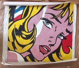 Roy Lichtenstein pop art: Girl with hair ribbon