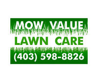 MOW VALUE for weekly mowing and scheduled fertilizer