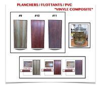 """(444-8)  PLANCHERS FLOTTANTS { PVC } 1.95$ /P.C  """" VINYLE COMPOS"""