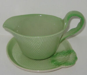 Carlton Ware CURLED LETTUCE pattern Sauce or Gravy Boat & Tray