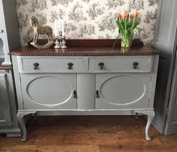 Stunning French Vintage Style Shabby Chic Distressed Look Grey