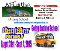 Barrie - Beginner Driver Education Course – August 2015