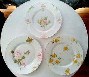 Set of 3, Shabby Chic/Country Chic, Glass, Decorative Plates