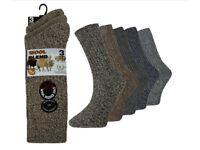 144 Pairs Mens Designer Thermal Wool Socks Cushion Padded Long Boot Socks Wholesale Stock Lot New