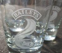 Baileys Irish Cream Tumblers Bubble Base Etched set of 6 glasses