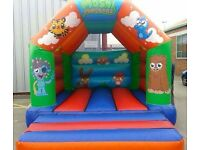 Spider-Man Toy Story and Moshi Monsters bouncy castle for sale