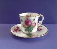 "Hammersley Bone China ""Grandmother's Rose"" Teacup Set"