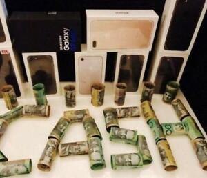 We pay TOP $$$$ Cash on the spot for Brand New Phones,Electronics,Gift Cards,Pre-Paid Vanila/Master Cards,Consoles etc