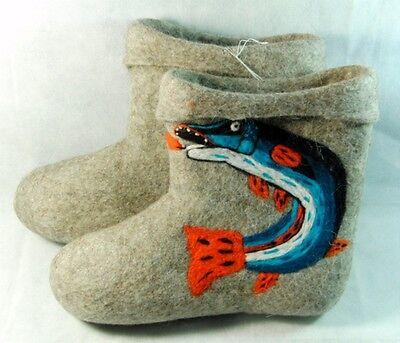 Felt Footwear (Valenki 100% Wool Traditional Russian Felt Boots Handmade Winter Footwear UK)