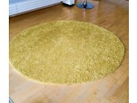 200 x 200 cm yellow / gold round rug Ip