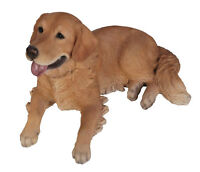 GOLDEN RETRIEVER DOG FIGURINE resin animal Statue PET COUNTRY LY