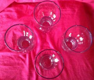 4 verres ballons. Ils sont signés de 4 cercles qui s'entrecroise Gatineau Ottawa / Gatineau Area image 4