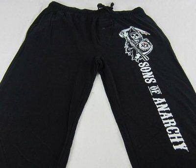 Mens Womens NEW Sons of Anarchy Reaper Black Pajama Lounge Pants S M (Sons Of Anarchy Womens)