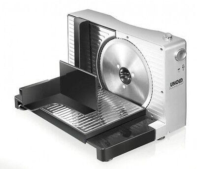 Unold 78856 Allesschneider Kompakt elektrisch klappbar schwarz-silber