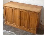TV cabinet in solid oak