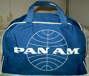 ORIGINAL VINTAGE Pan Am Panam Airlines BAG - OR TRADE
