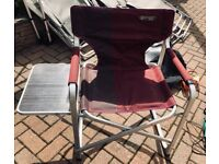 Quest Elite Camping/Garden Chair with side table