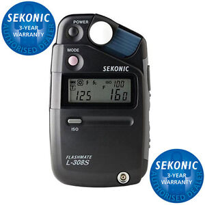 Sekonic Flashmate L-308S Digital Flash Light Meter - 3 Year Warranty - UK Stock