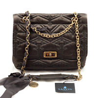 "Authentic Lanvin Paris ""Happy"" Quilted Satin Handbag - NWT"