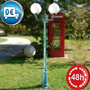 Lampione palo lanterna lampada sfera globo for Lampioni da giardino a sfera