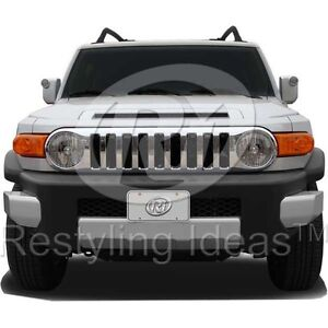 2007-2010 TOYOTA FJ CRUISER CHROME GRILL GRILLE - REPLACEMENT GRILL
