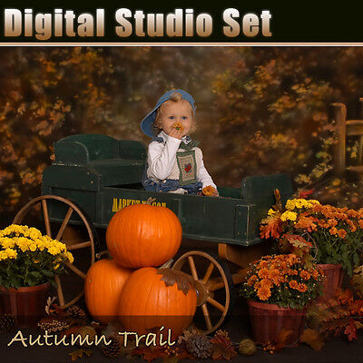 Fall Digital Background Backdrop For Photography Green Screen Includes Psd Files