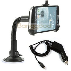 Car-Charger-Windshield-SUCTION-Mount-Holder-Stand-For-Samsung-Galaxy-S3-i9300