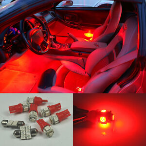 5pcs Bright Red Led Lights Interior Package Kit Dodge Charger 2006 2010