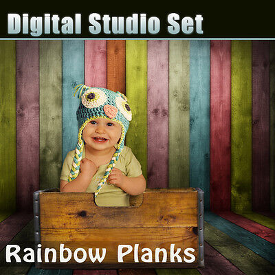 Unique Digital Background Backdrop & Digital Box Prop For Green Screen Photoshop