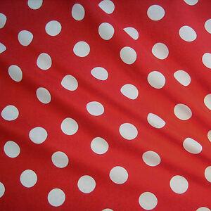 Stoff Meterware Punkte (2,5 cm) rot weiß Baumwolle Tupfen Dots Polka Petticoat