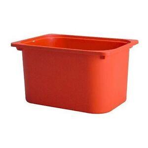 ikea trofast storage box bin tray orange other vancouver kijiji. Black Bedroom Furniture Sets. Home Design Ideas
