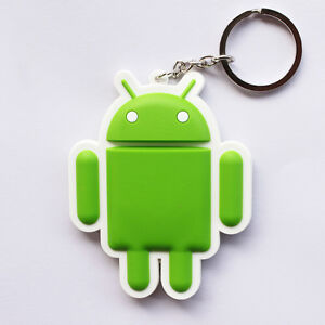 Google-Android-Robot-Figure-Rubber-Keychain-Key-Chain-Ring-Cartoon-Toy-Green