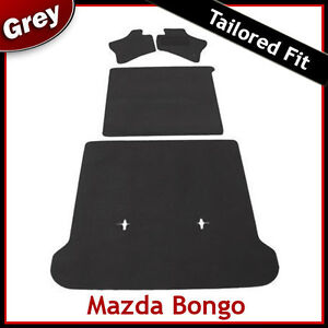 MAZDA-BONGO-Full-Set-of-Tailored-Fitted-Carpet-Car-Floor-Boot-Mats-GREY