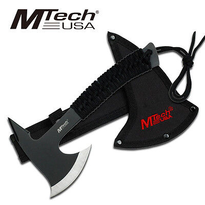9 Mtech Full Tang Mini Throwing Tomahawk Axe W/ Sheath