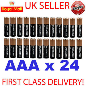 24 x DURACELL AAA LR03 MN2400  ALKALINE BATTERIES EXP 2016 OR BETTER