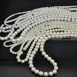 New-4mm-6mm-8mm-10mm-Round-Glass-Pearl-Beads