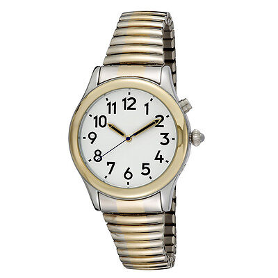 Dual Voice Men's Talking Watch Alarm/speaks Time Day Date,year Low Vision, Blind