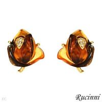 NEW RUCINNI EARRINGS with SIMULATED GEMS & SWAROVSKI CRYSTALS