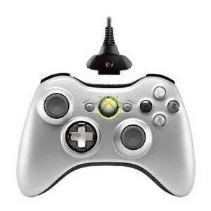 Official-Microsoft-Xbox-360-Silver-Wireless-Controller-Play-Charge-Kit-LN