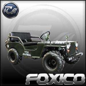 125CC FOXICO  BIG MUD WHEELS JEEP BUGGY GOKART 4 WHEELER QUAD ATV DIRT BIKE