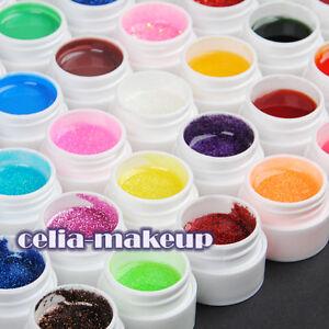 48-Color-UV-GEL-Nail-ART-GLITTERY-Glitter-Transparent-Pure-Solid-Builder-tip-415
