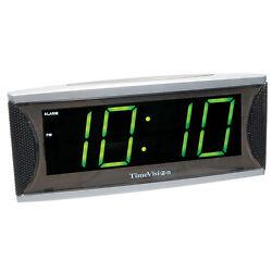 Low Vision Large Numbers Super Loud - Green LED Alarm Clock