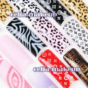 70pcs-Designer-Glitter-French-False-Nail-Tips-Sticker-Glue-Acrylic-UV-Polish-Art