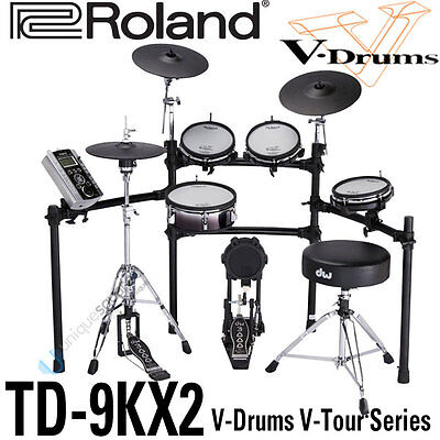 Roland TD-9KX2 TD9KX2 V-Tour Drum Kit with Drum Stand on Rummage