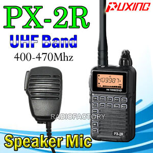 PUXING PX-2R UHF 400-470Mhz Small Radio + earpiece+Speaker mic