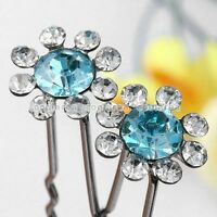 Clear Crystal Sunflower Hairpins --NEW!