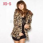 Faux Fur Leopard Hooded Coat