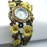 sunflower watch cuff bracelet--NEW!