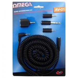 Omega-10701-Audio-Accessory-Kit-3-5mm-Splitter-6-3mm-2-5mm-Adaptor-Extension-Set