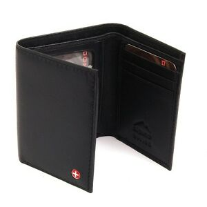 Alpine-Swiss-Mens-Leather-Wallet-Trifold-Comes-in-Gift-Bag-Soft-Lambskin-Leather